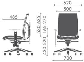 办公椅尺寸
