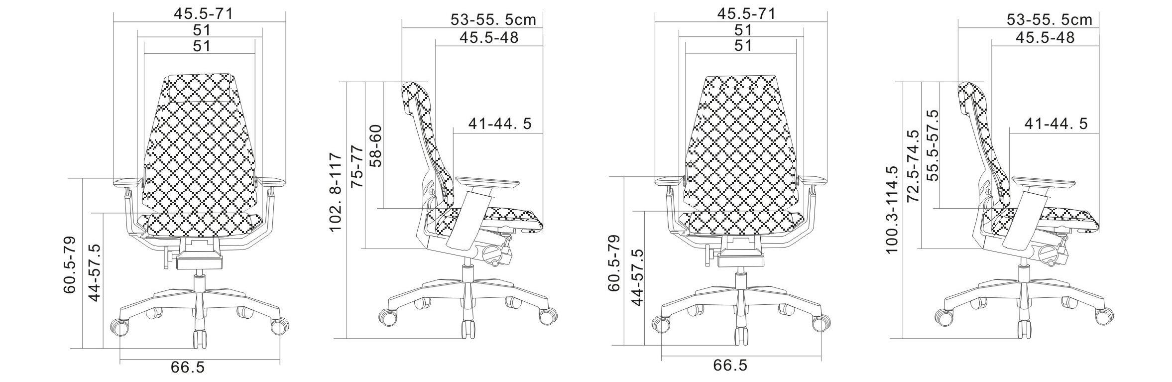 联友办公椅尺寸