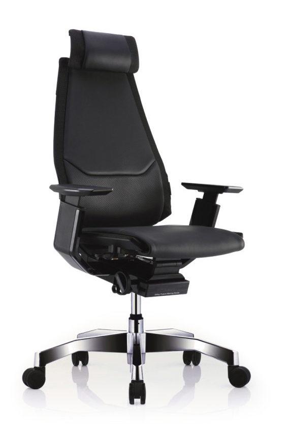 GN-BP-HAL黑框黑色扶手&抛光椅脚