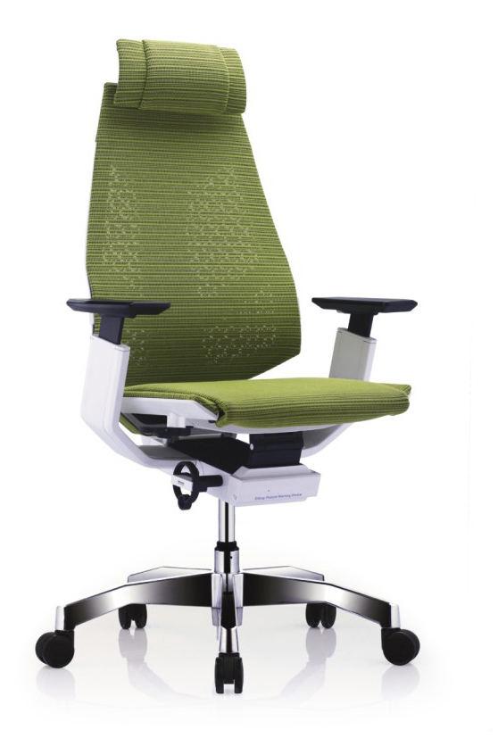 GN-WP-HAM 白框白色扶手&抛光椅脚