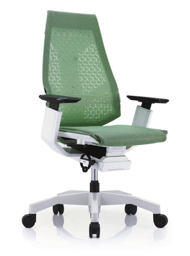 GN-WW-LAM白框白色扶手&白色椅脚