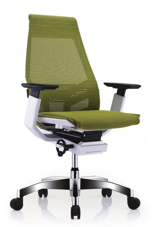 GNS-WP-LAM白框白色扶手&抛光椅脚